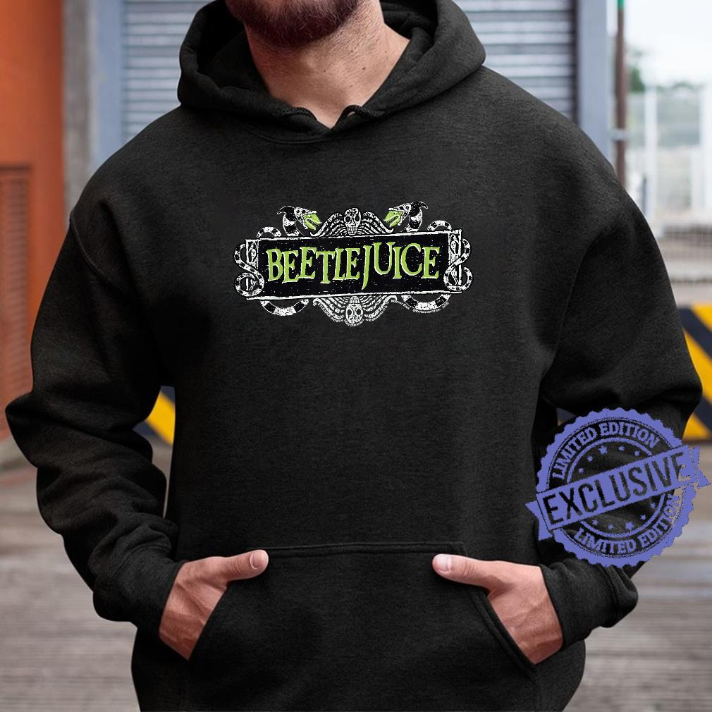 Beetlejuice Green Sign Logo Shirt hoodie