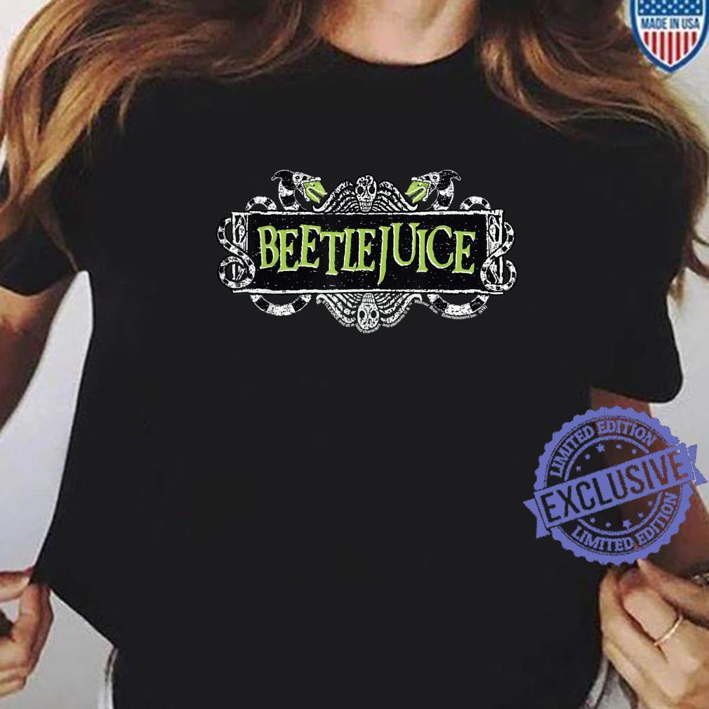 Beetlejuice Green Sign Logo Shirt ladies tee