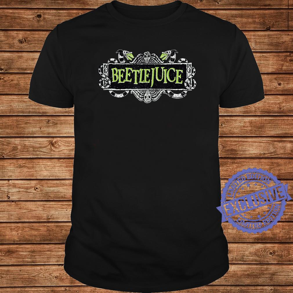 Beetlejuice Green Sign Logo Shirt long sleeved