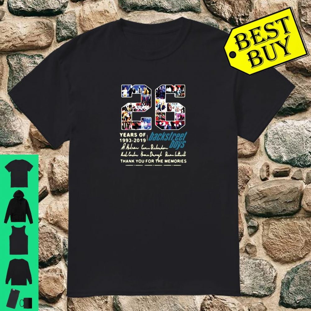 26 years of 1993-2019 Backstreet Boys thank you for the memories shirt