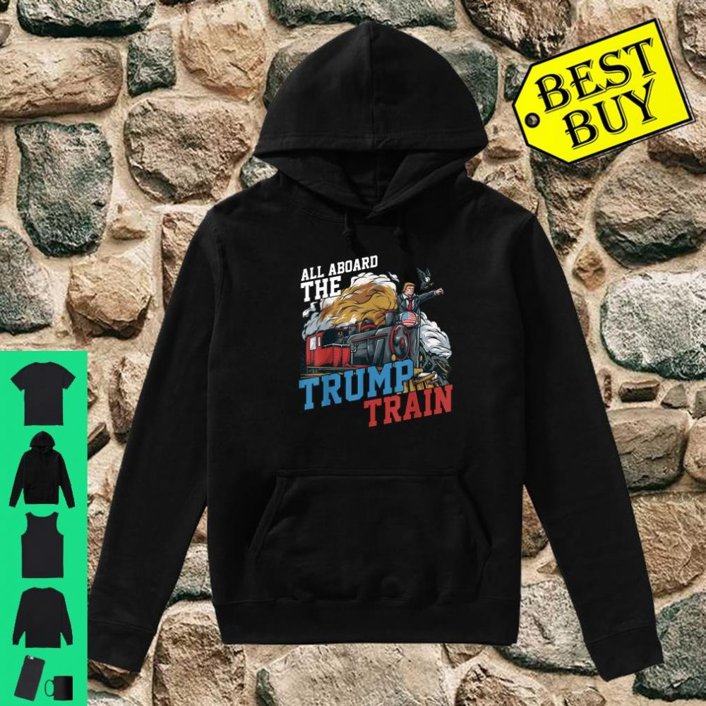 All Aboard the Trump Train American USA Flag shirt hoodie