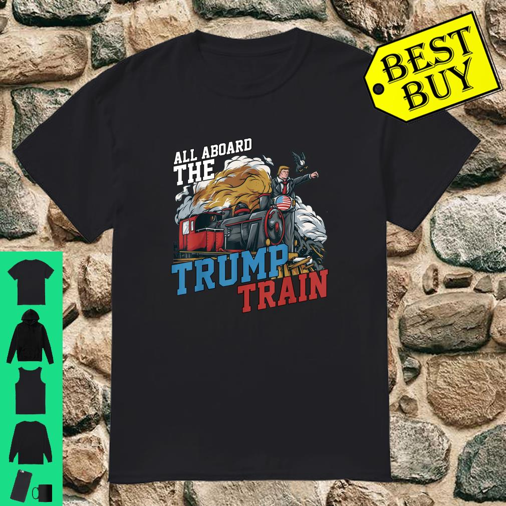 All Aboard the Trump Train American USA Flag shirt