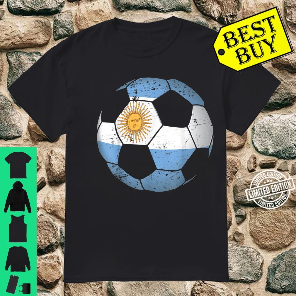 Argentina Soccer Ball Flag Jersey Argentinian Football Shirt