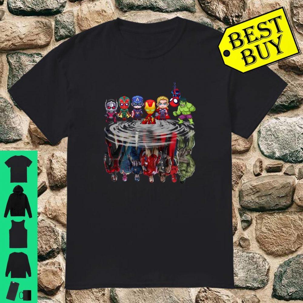 Avengers Baby Tony Spider Man Thor Hulk Captain In The Water Women Jersey shirt