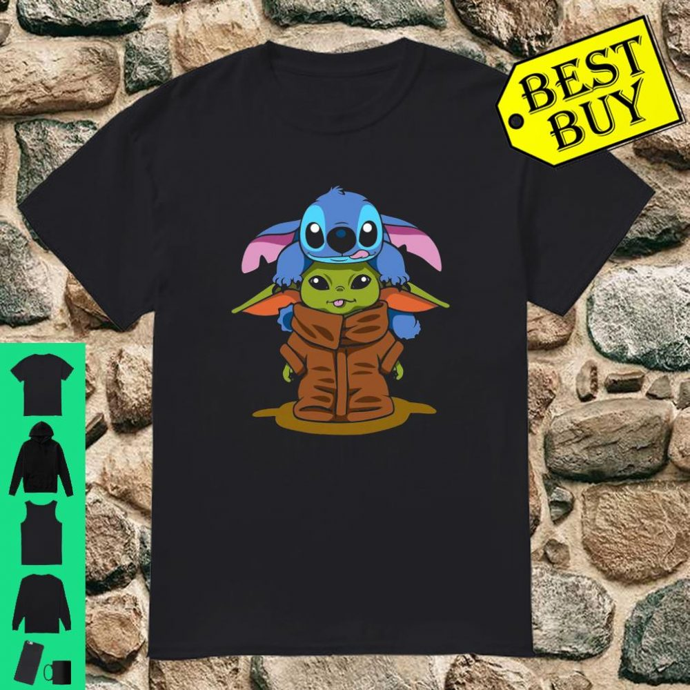 Baby Stitch And Baby Yoda Are Friends shirt