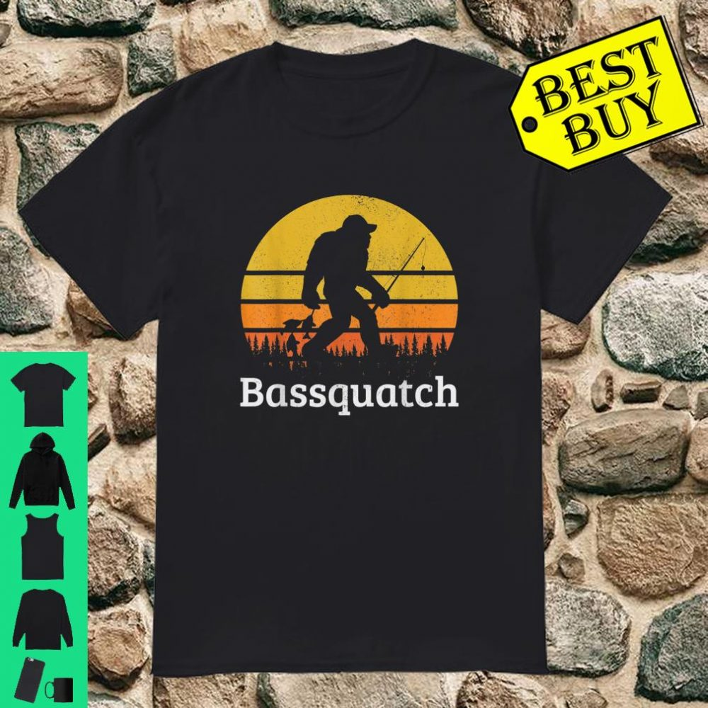 Bassquatch Bass Fishing Sasquatch Bigfoot Vintage Shirt