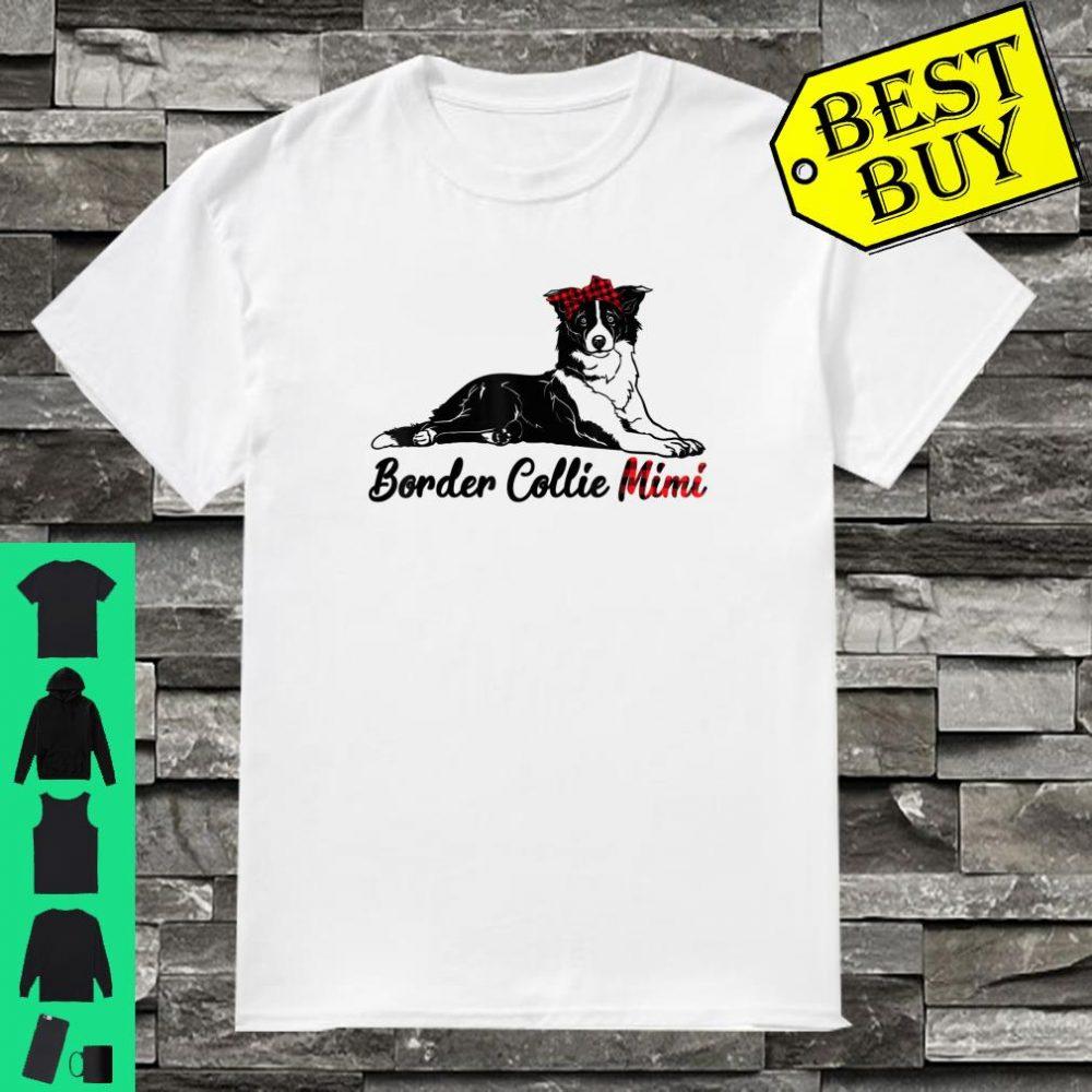 Border Collie Dog Mimi Gifts Puppy Clothes Red Plaid Bandana shirt