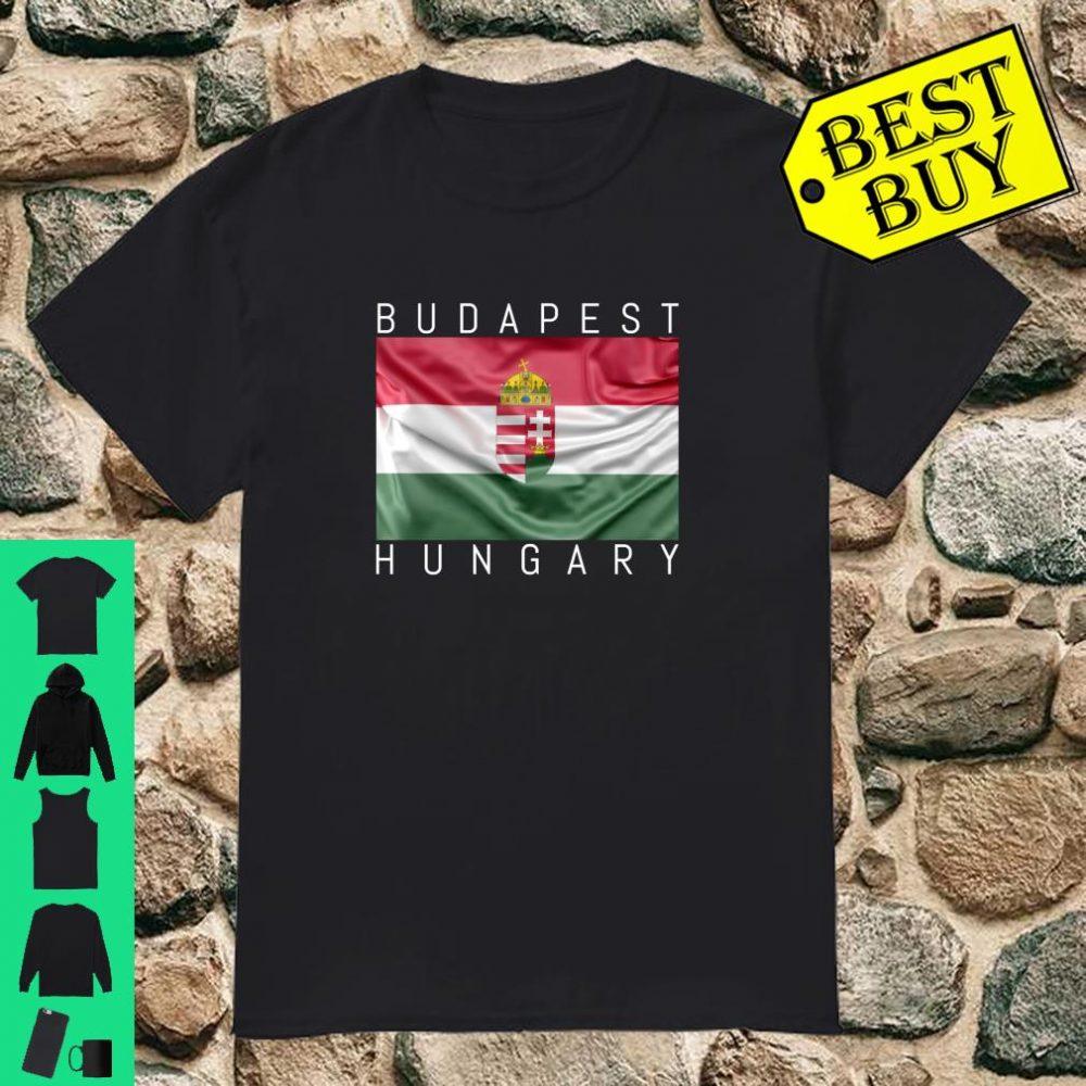 Budapest Hungary Flagge von Ungarn mit Wappen Souvenir Geschenk shirt