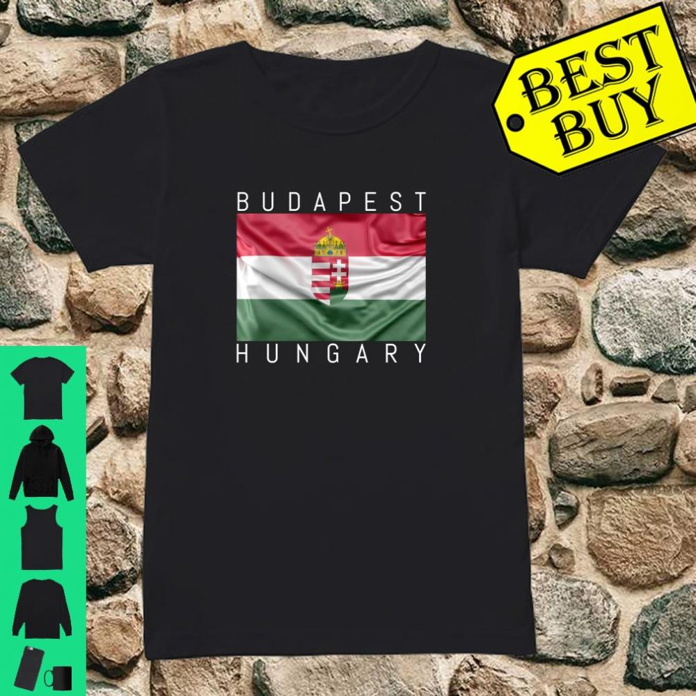 Budapest Hungary Flagge von Ungarn mit Wappen Souvenir Geschenk shirt ladies tee