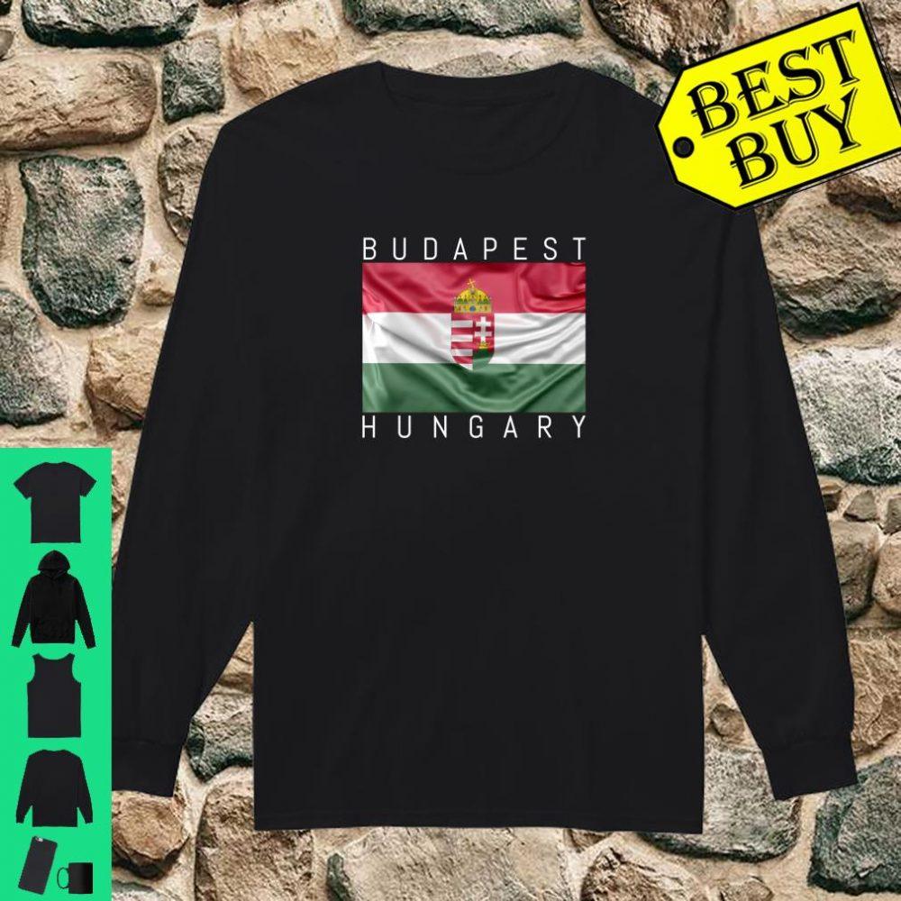 Budapest Hungary Flagge von Ungarn mit Wappen Souvenir Geschenk shirt long sleeved