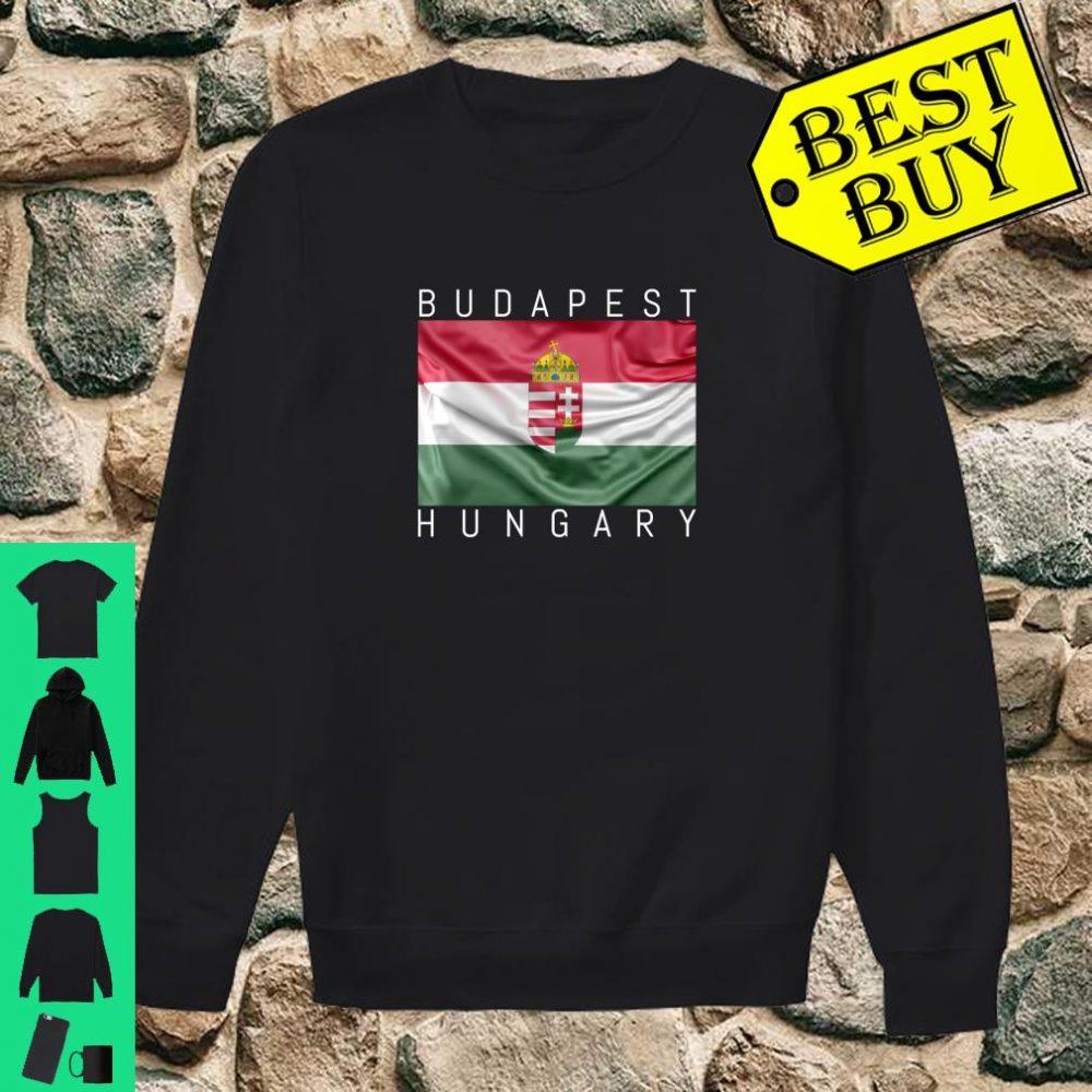 Budapest Hungary Flagge von Ungarn mit Wappen Souvenir Geschenk shirt sweater