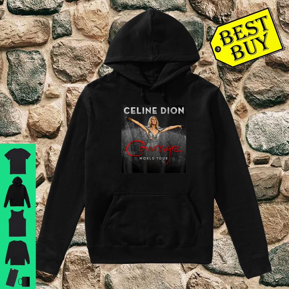 Celine Dion courage world tour shirt hoodie