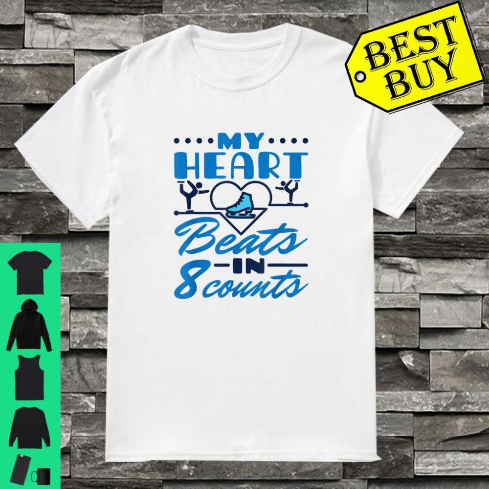 I Love Heart Ice Skating Ladies T-Shirt