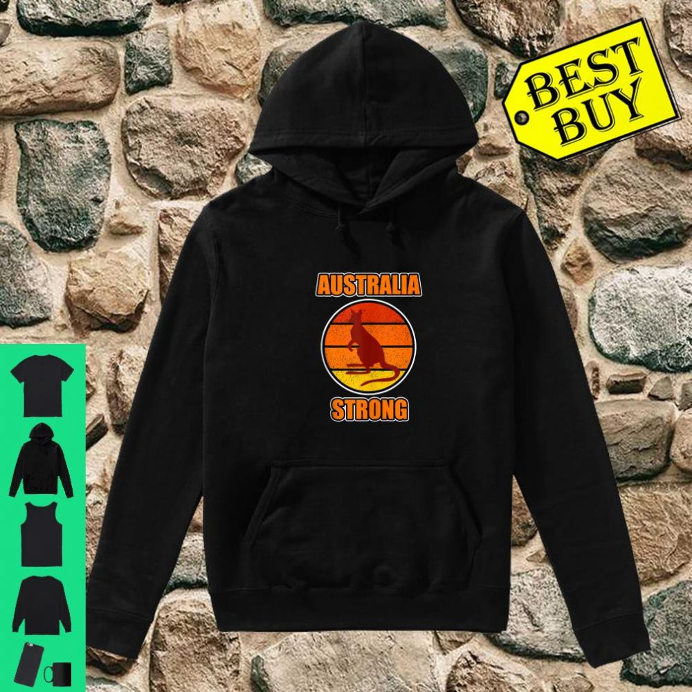 Kangaroo Shirt and Australia Strong Shirt hoodie