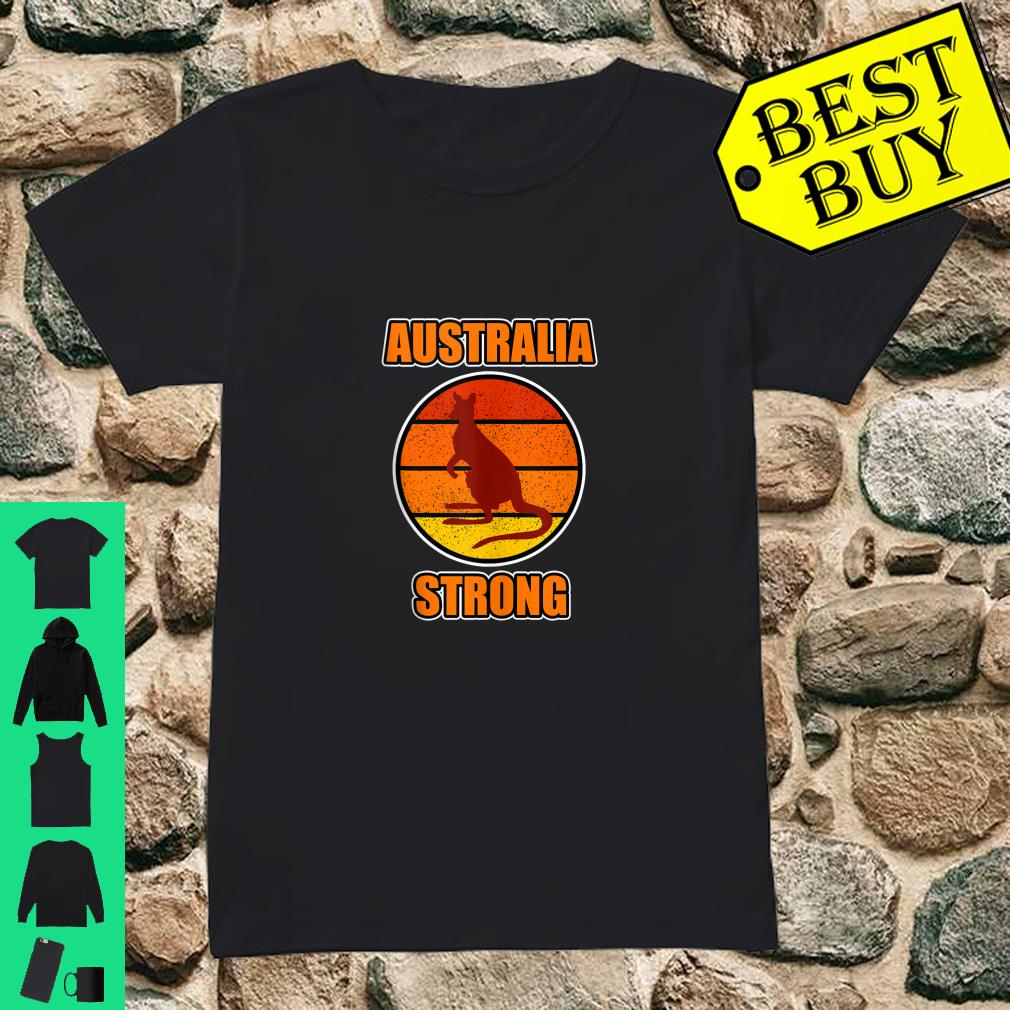 Kangaroo Shirt and Australia Strong Shirt ladies tee