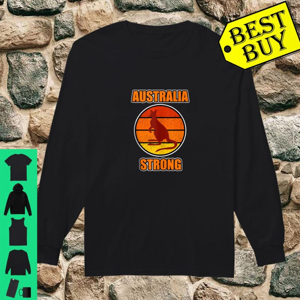 Kangaroo Shirt and Australia Strong Shirt long sleeved