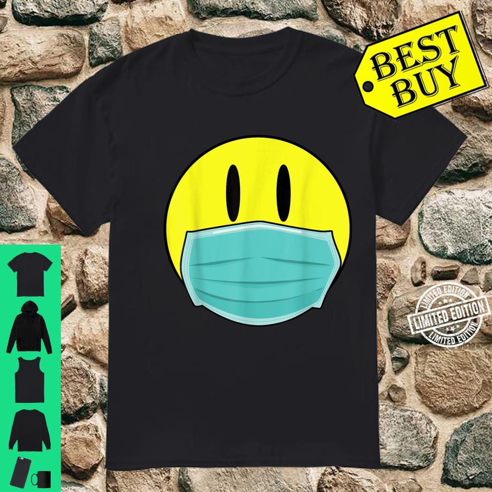 Mens Retro Smiley Face 2020 Acid Man with Mask Shirt