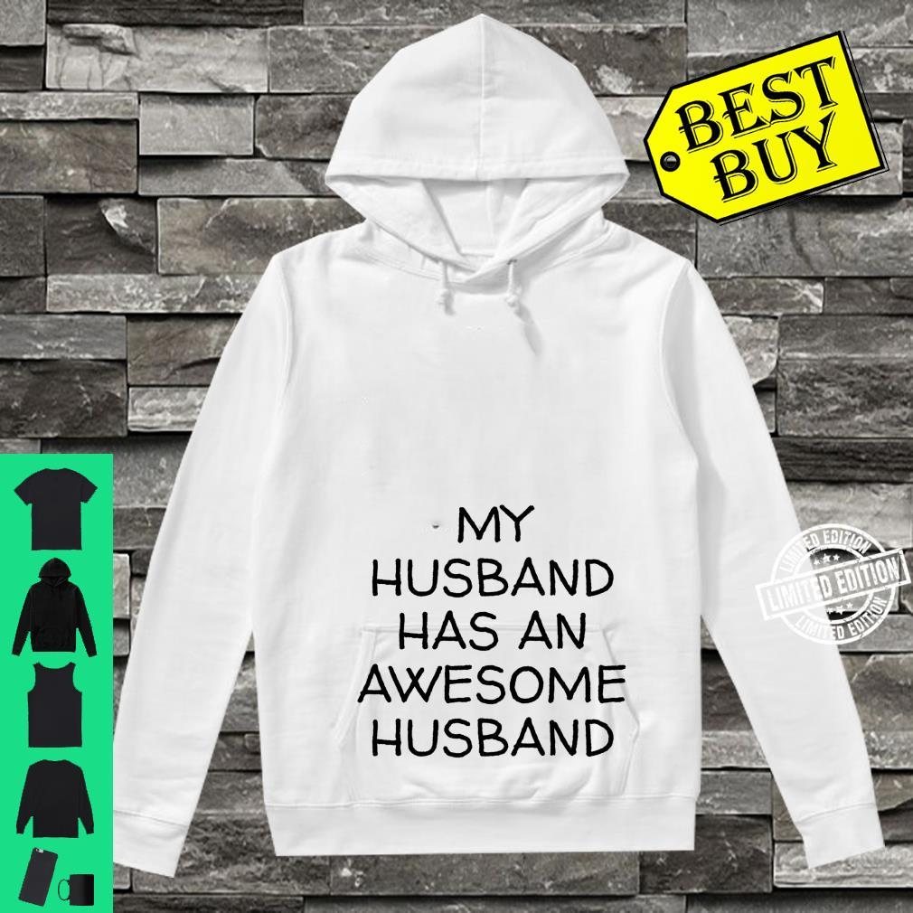 My Husband Has An Awesome Husband LGBTQ Pride Gay Lesbian Shirt hoodie