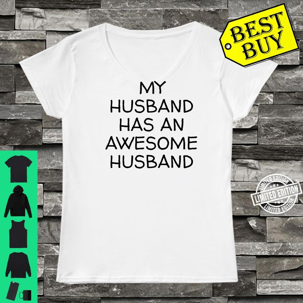 My Husband Has An Awesome Husband LGBTQ Pride Gay Lesbian Shirt ladies tee