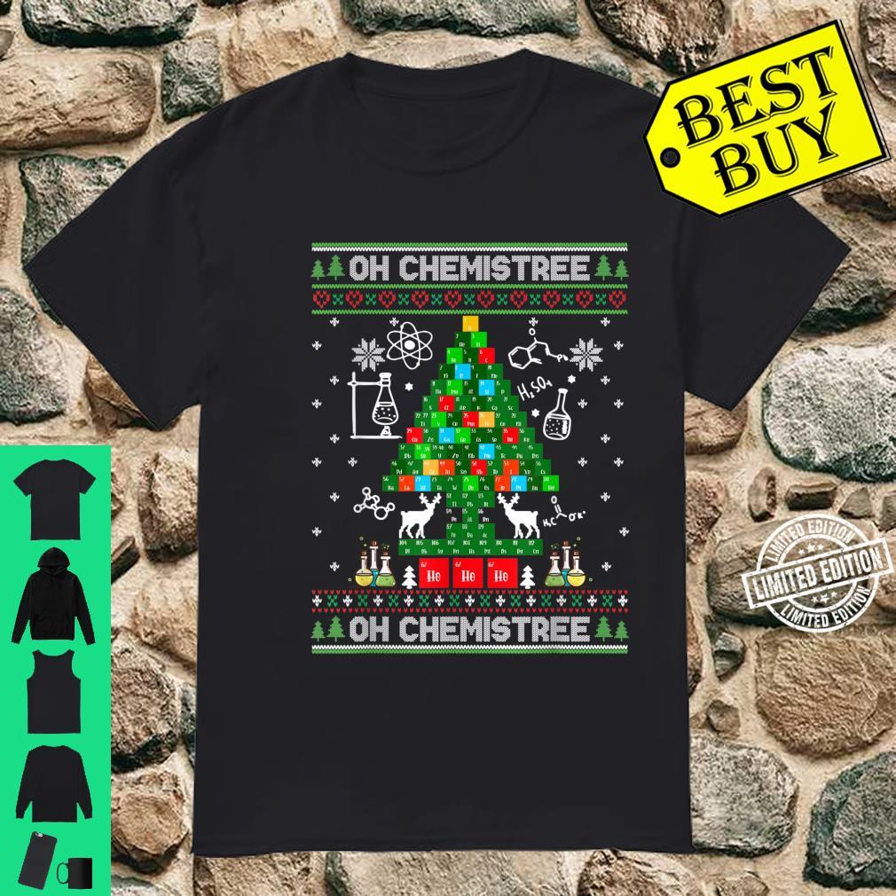 Oh Chemist Tree Ugly Christmas Science Chemistry Shirt