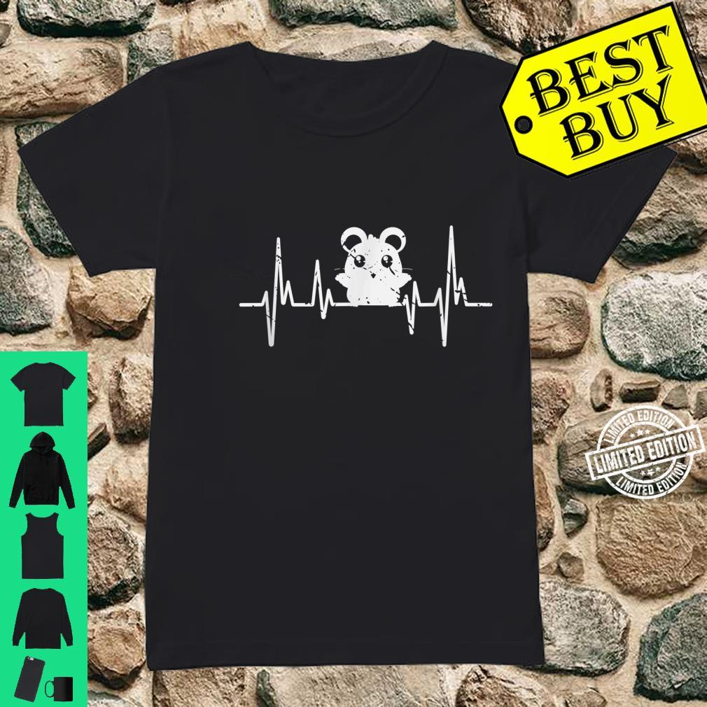 Pet Rodent Hamster Heartbeat Hamster Shirt ladies tee