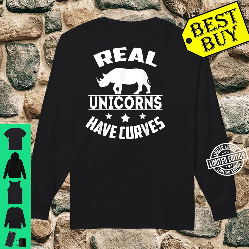 Real unicorns have curves Shirt long sleeved