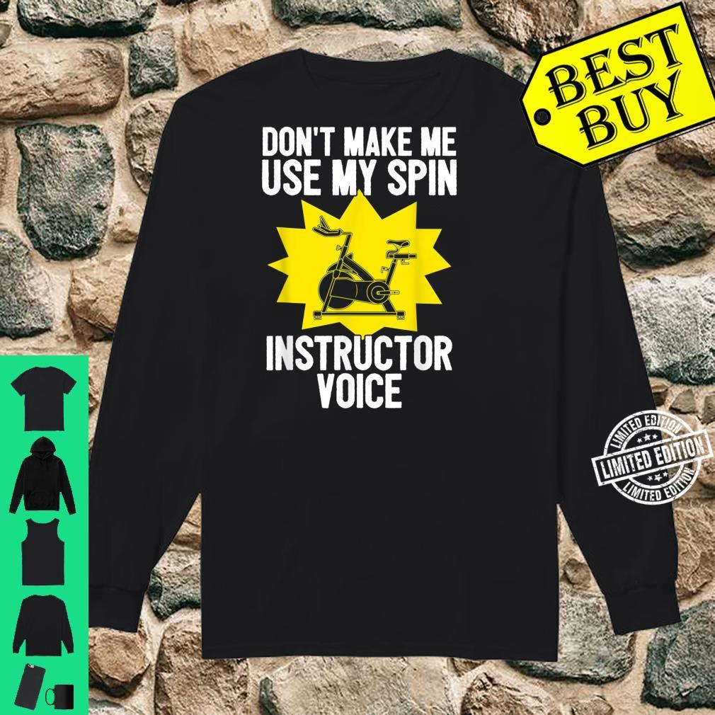 Spin Instructor Voice Spinning Indoor Cycling Biking Workout Shirt long sleeved