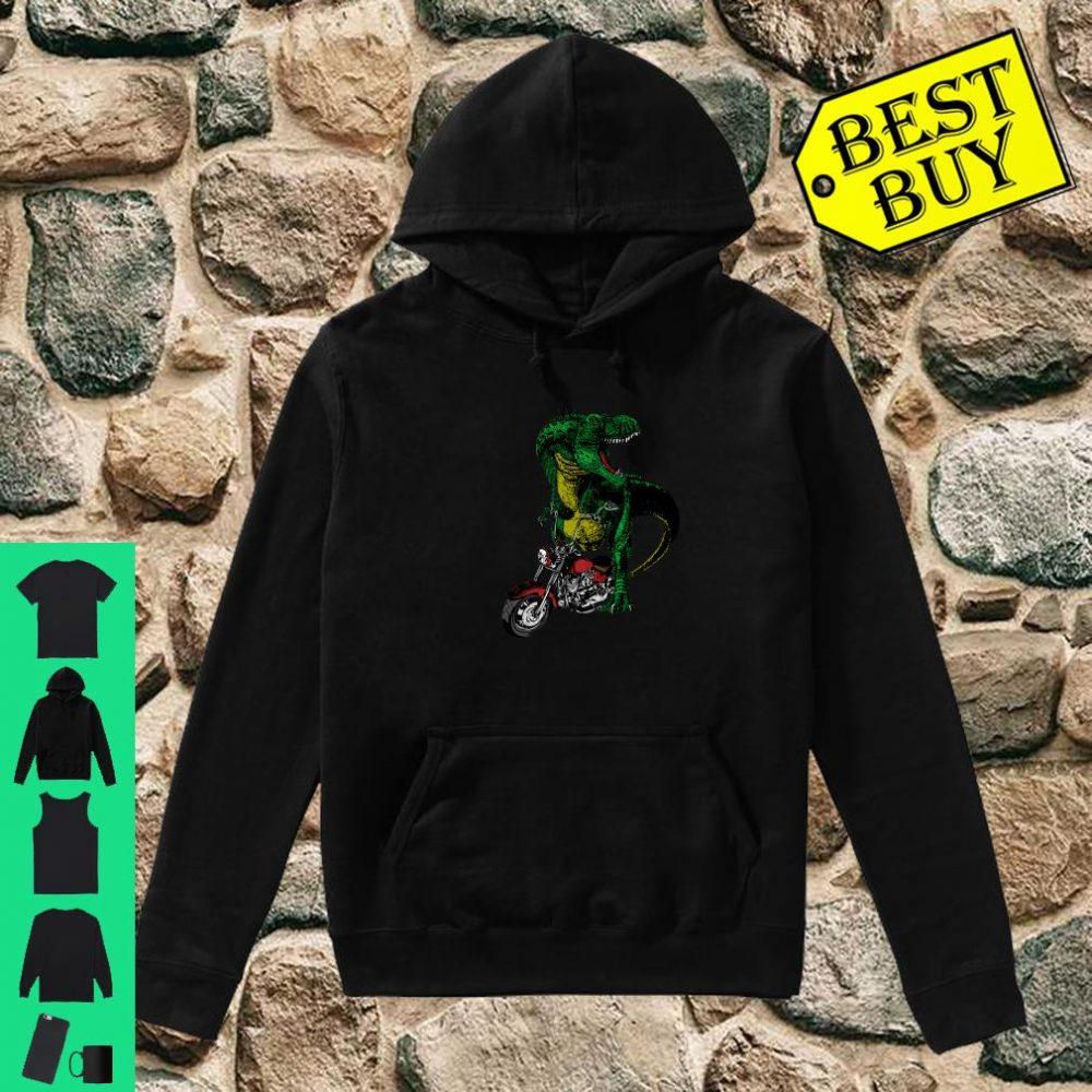 T-Rex on a Chopper shirt hoodie