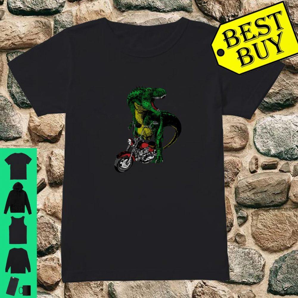 T-Rex on a Chopper shirt ladies tee