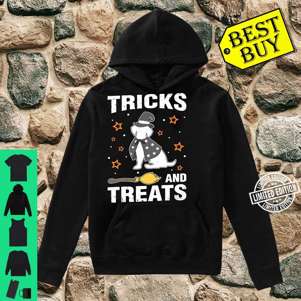 Treats & Tricks Beagle Halloween Costume Witch Shirt hoodie