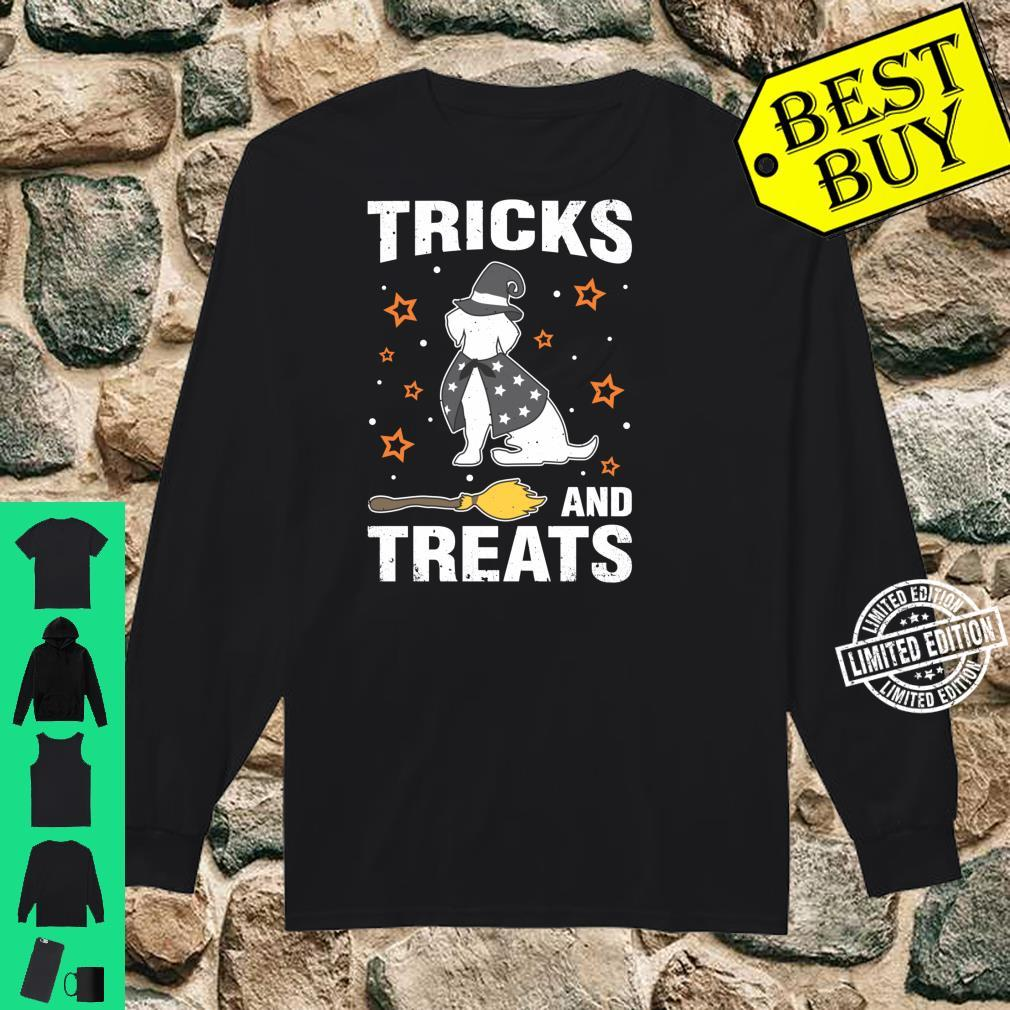 Treats & Tricks Beagle Halloween Costume Witch Shirt long sleeved