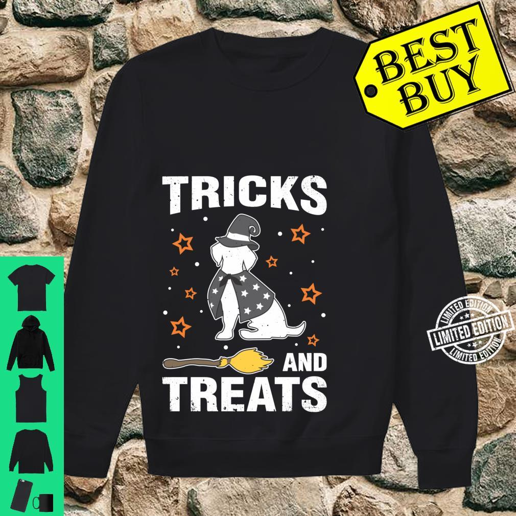 Treats & Tricks Beagle Halloween Costume Witch Shirt sweater