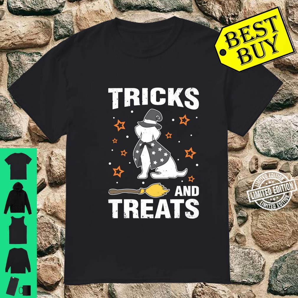 Treats & Tricks Beagle Halloween Costume Witch Shirt