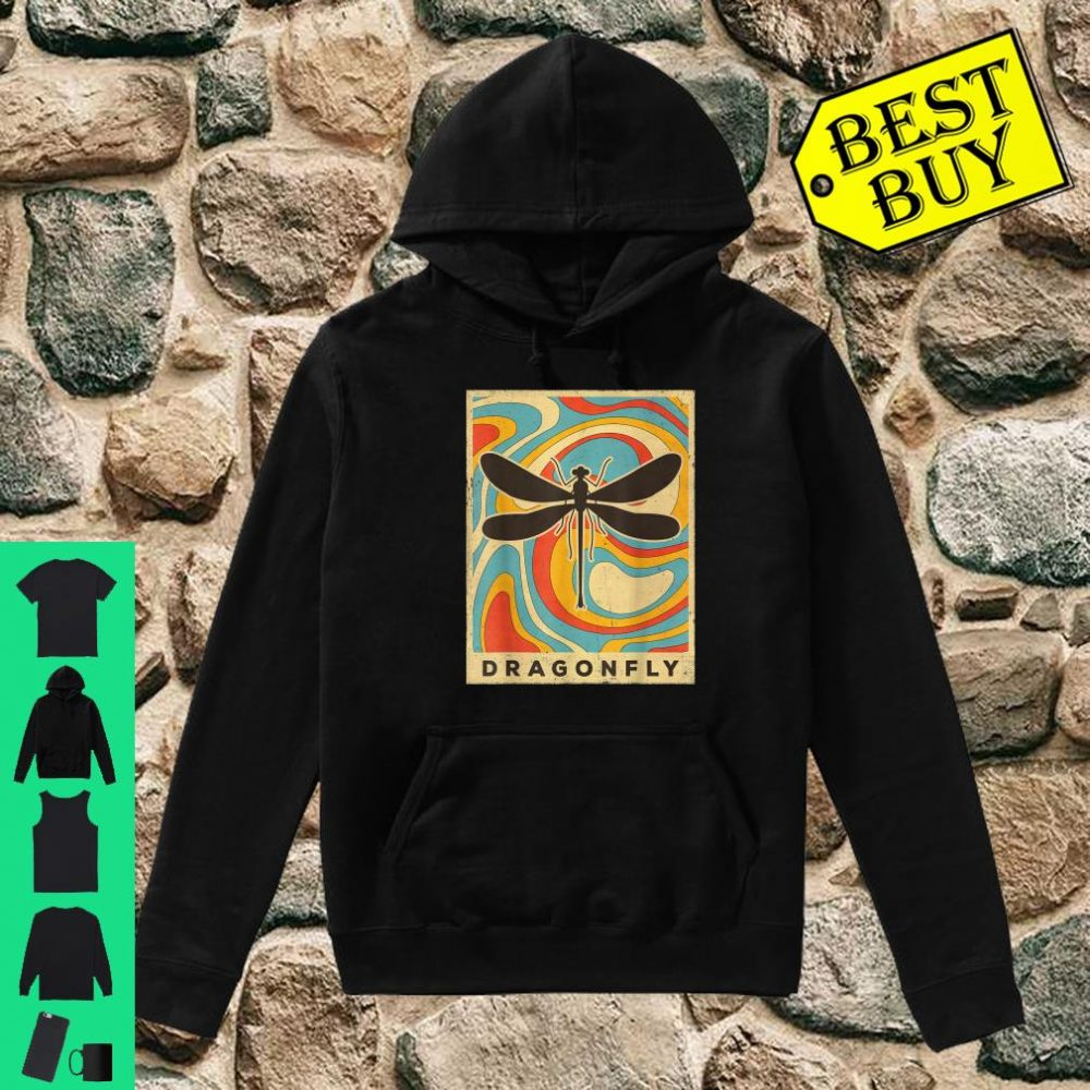 Vintage Dragonfly Lover Animal Retro Style shirt hoodie