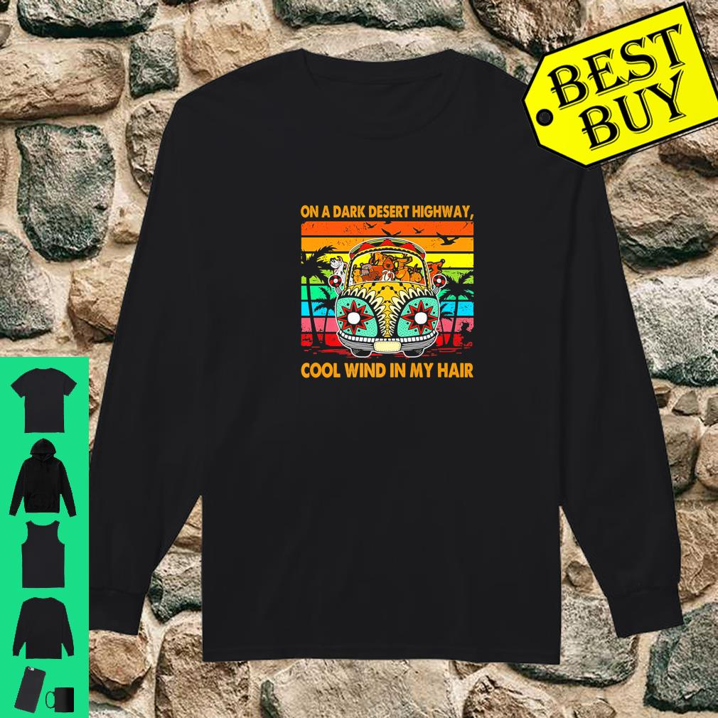 Vintage Retro Dogs Apparel Wind In Hair On A Desert Highway shirt long sleeved