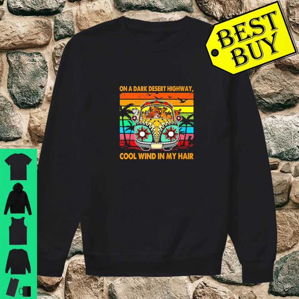Vintage Retro Dogs Apparel Wind In Hair On A Desert Highway shirt sweater