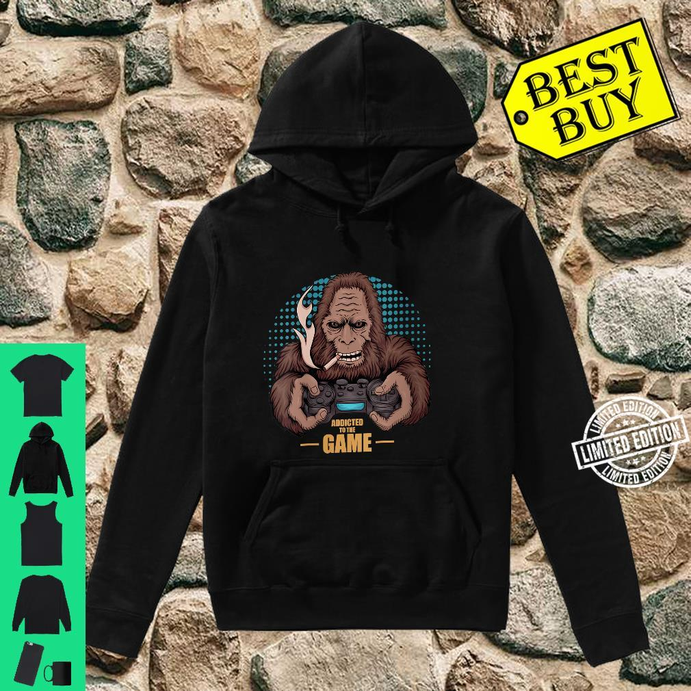 Womens Bigfoot Gamer design for video game addicts Shirt hoodie