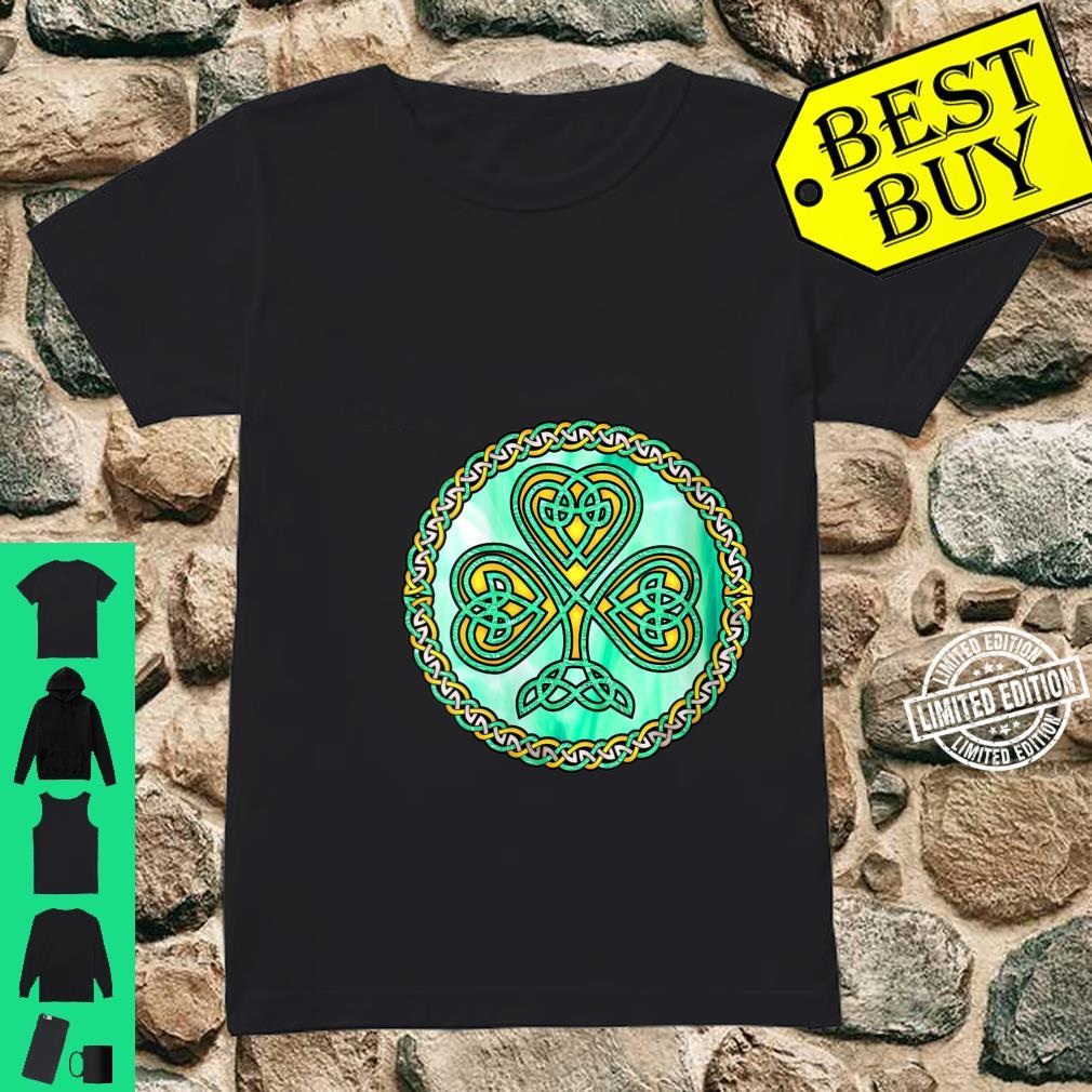 Womens Celtic Knot Shamrock Irish Ireland Shirt ladies tee