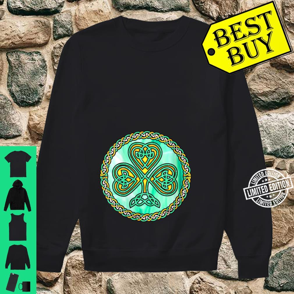 Womens Celtic Knot Shamrock Irish Ireland Shirt sweater