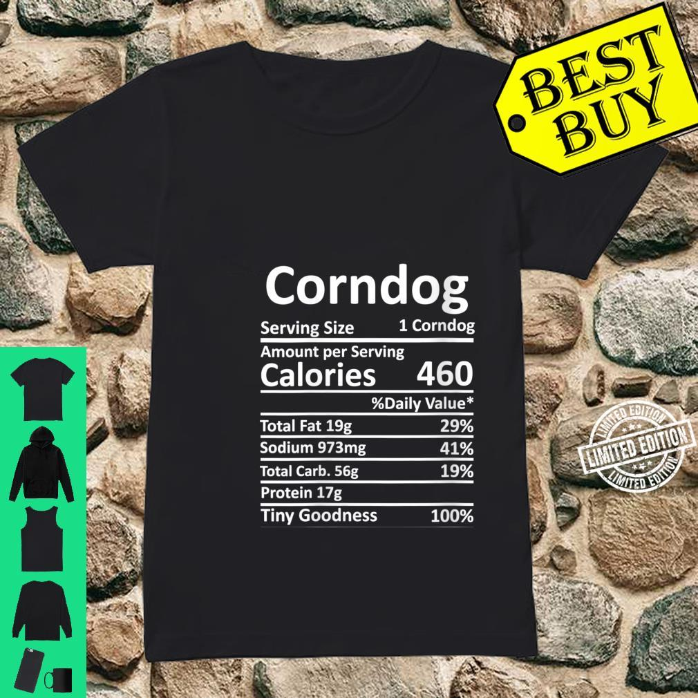 Womens Corndog Nutrition Thanksgiving Costume Food Facts Christmas Shirt ladies tee