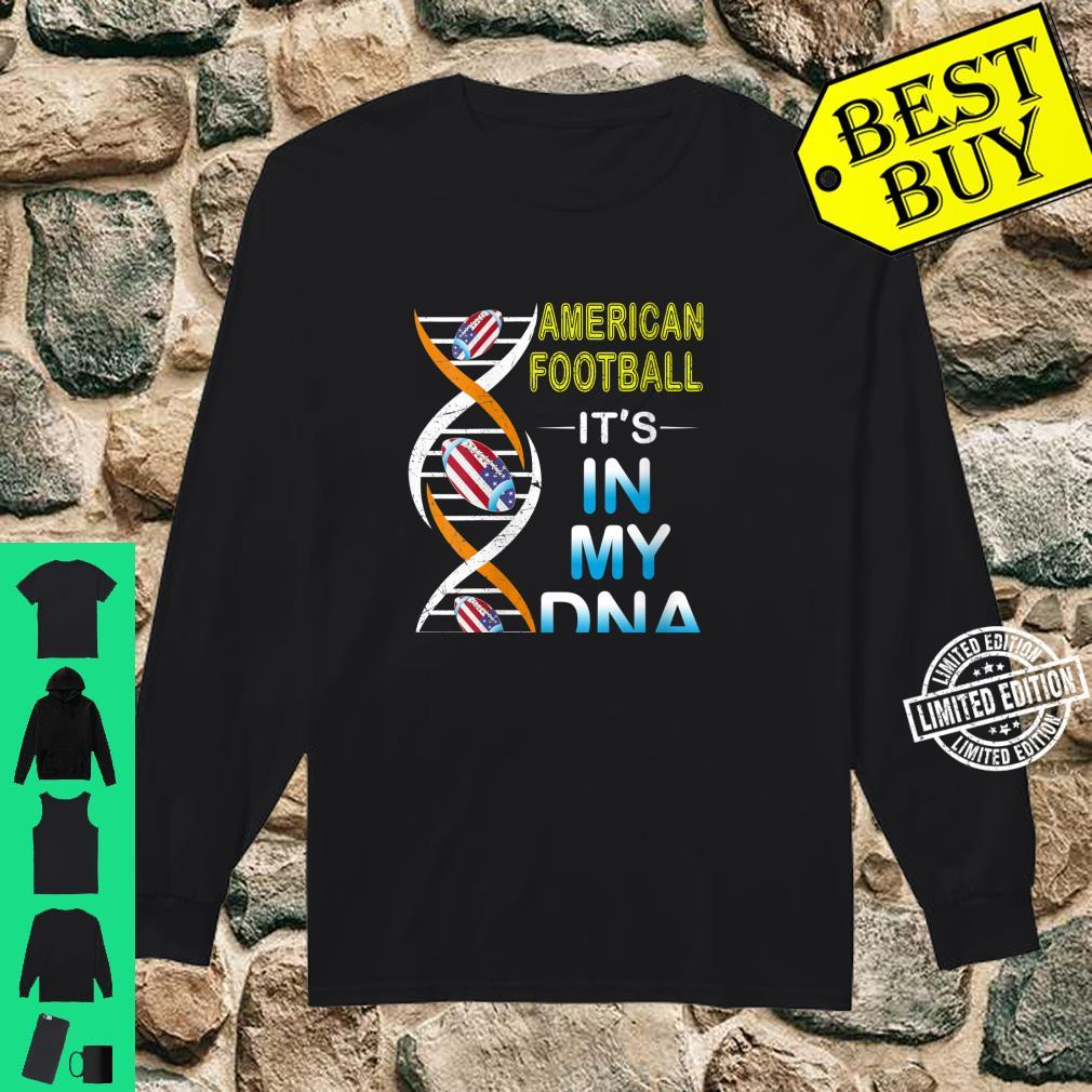 Womens Love RugbyAmerican Football It's In My DNA Sport Shirt long sleeved