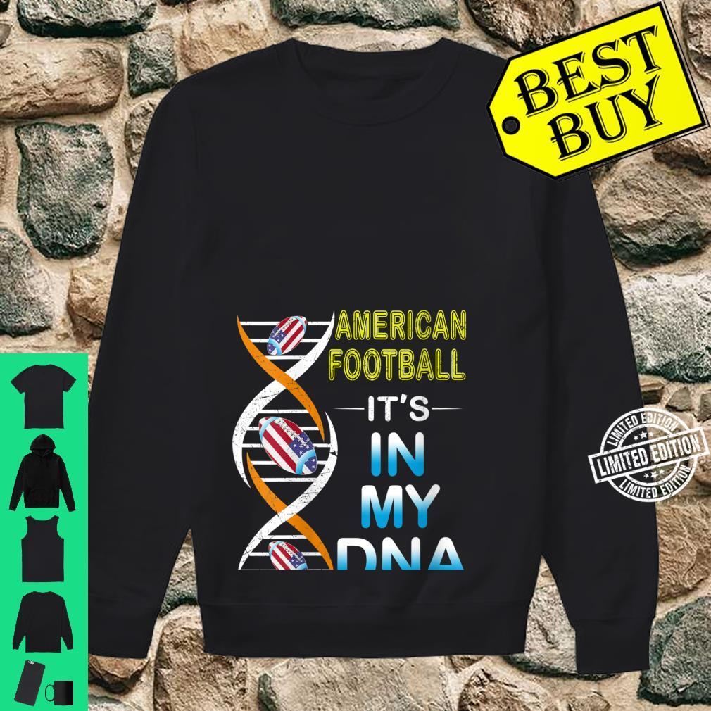 Womens Love RugbyAmerican Football It's In My DNA Sport Shirt sweater