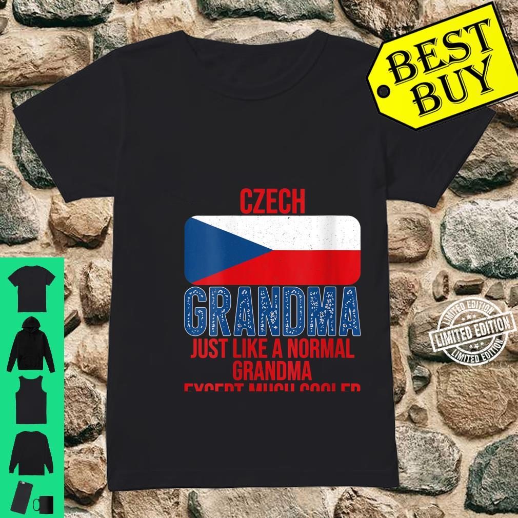 Womens Vintage Czech Grandma Czech Republic Flag for Mother's Day Shirt ladies tee