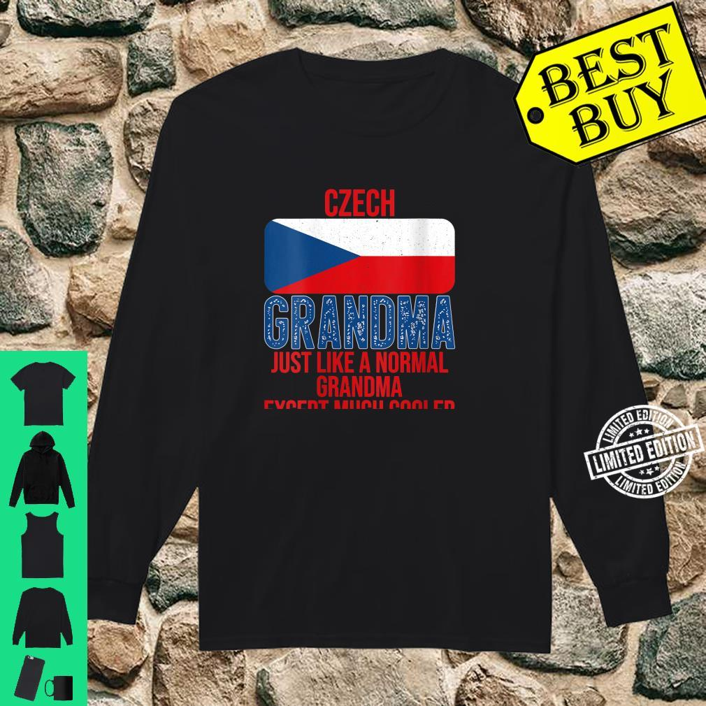 Womens Vintage Czech Grandma Czech Republic Flag for Mother's Day Shirt long sleeved