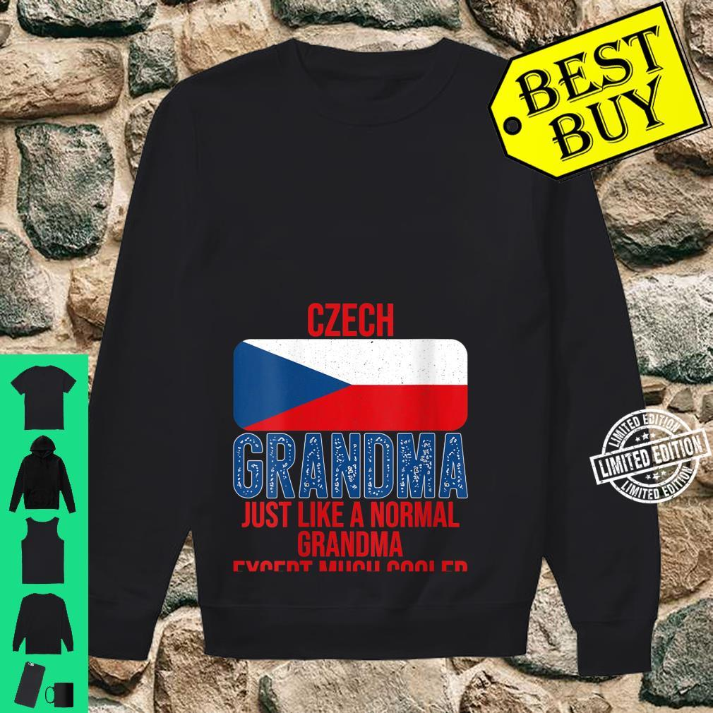 Womens Vintage Czech Grandma Czech Republic Flag for Mother's Day Shirt sweater