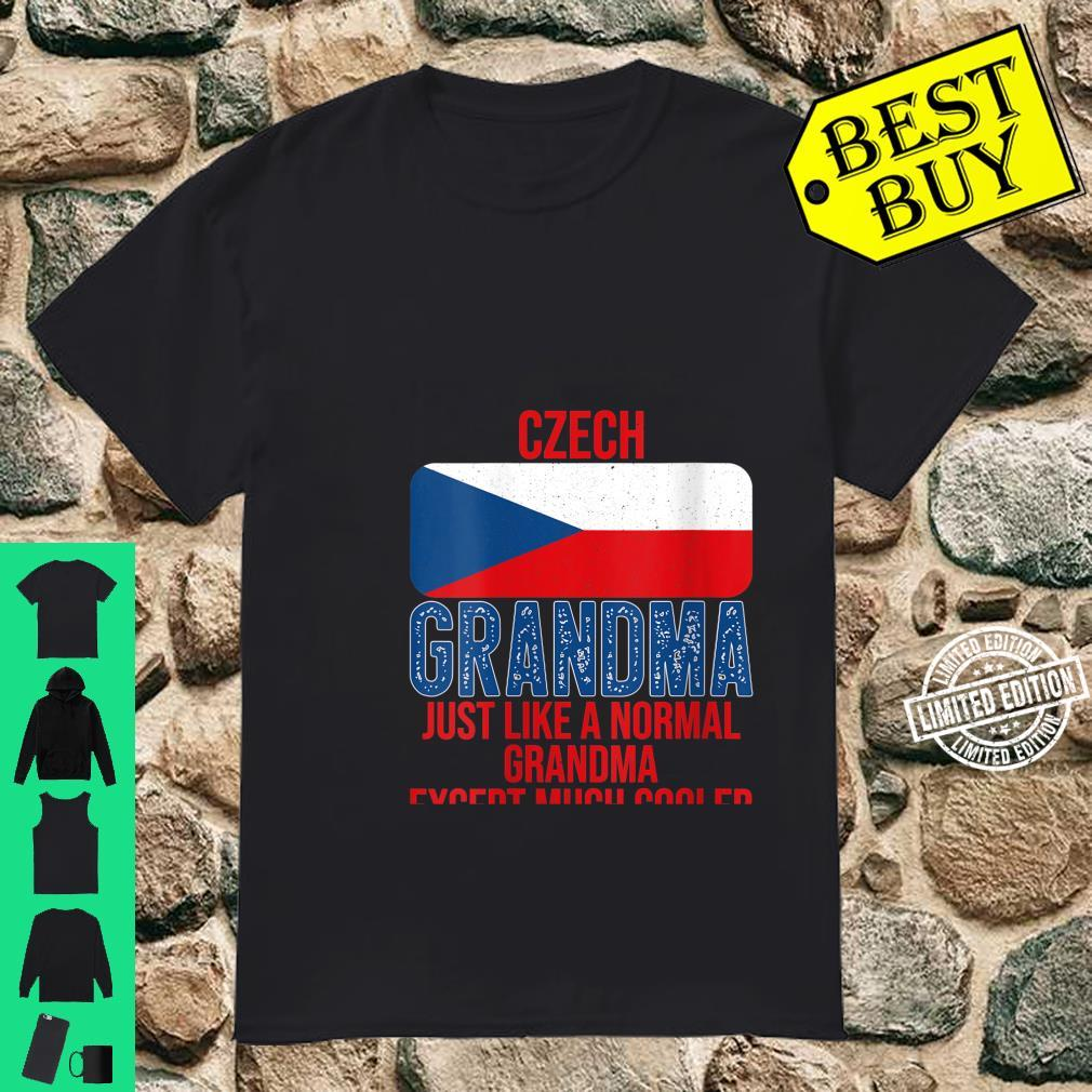 Womens Vintage Czech Grandma Czech Republic Flag for Mother's Day Shirt